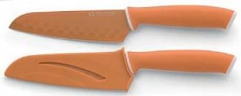 Nůž nepřilnavý santoku 14 cm oranžová GOOD4U