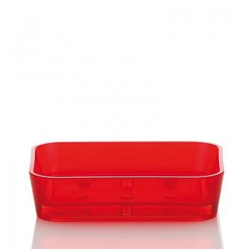 Miska na mýdlo KRISTALL červená