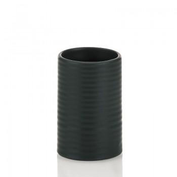 Pohár GROOVE keramika černý