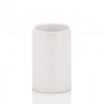 Pohár GROOVE keramika bílý