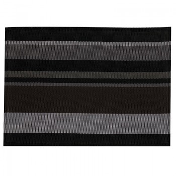 Prostírání NETA, PVC, černé pruhy 45x30cm