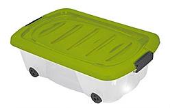 Úložný box pojízdný 24 l, zelený