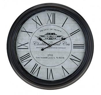 Nastěnné hodiny kovové 63 cm Retro Chablis 1911
