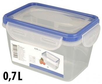 Dóza plastová s klip víčkem 0,7 l