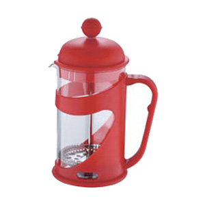 Konvička na čaj a kávu French Press 800 ml červená