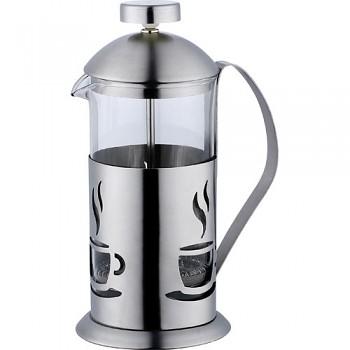 Konvička na čaj a kávu nerez French Press 600 ml