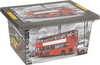 Úložný box s klip víkem plastový 40x30x20 cm DOUBLE-DECKER