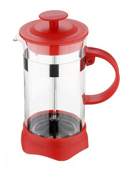 Konvička na čaj a kávu French Press 350 ml červená