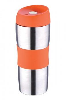 Termohrnek cestovní 450 ml, oranžový
