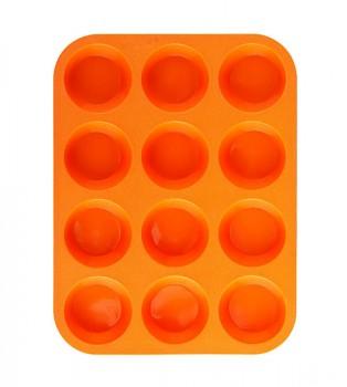 Forma na muffiny 12 ks silikonová, oranžová