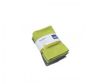 Utěrka SUPOR mikrovlákno 4ks zelená, šedá