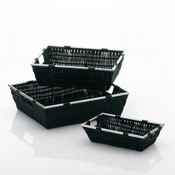 Koš NOBLESSE PP plast, černý 33x25x10 cm