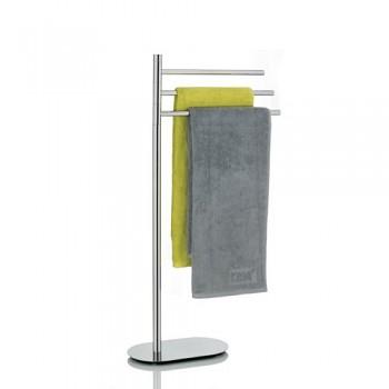 Trojdržák ručníků LUCIDO nerez   32x18x81cm