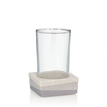 Pohár VALURA umělý kámen / sklo