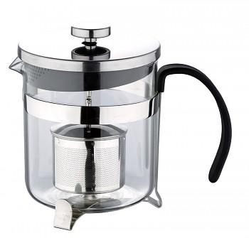 Konvička na čaj s čajítkem nerez 600 ml