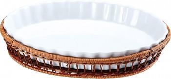 Porcelánová forma v košíku ovál 28 x 21 cm