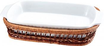 Porcelánová forma v košíku obdélník 29 x 16 cm cm
