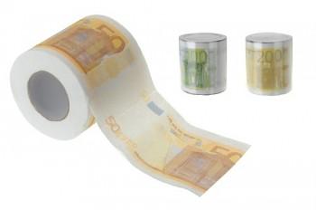 Toaletní papír, 100 útržků, motiv bankovek