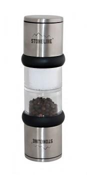 Mlýnek na sůl a pepř nerez mechanický se stojánkem
