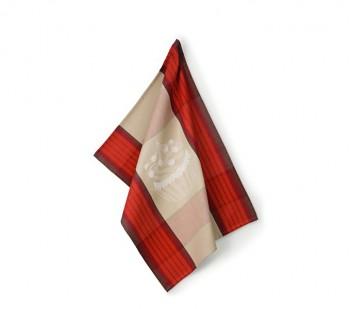 Utěrka FRIDA 100% bavlna, červená 50x70 cm