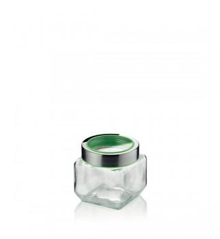 Dóza SIRO sklo/nerez zelená 0,75L