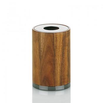 Pohár na vonné tyčinky MOON difuzér dřevo / nerez