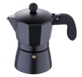 Konvice na espresso, 3 šálky, černá