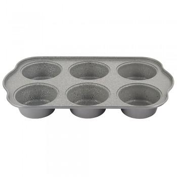 Forma na muffiny 6 ks Gray Granit 30,5 x 18 cm