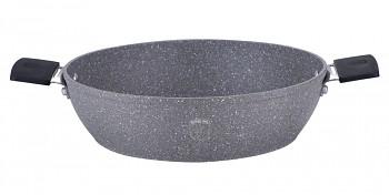 Pekáč kulatý s mramorovým povrchem 32 cm Gray Stone Touch Line
