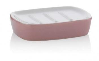 Miska na mýdlo LINDANO keramika růžová