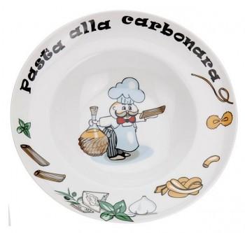 Talíř na těstoviny hluboký 27 cm Pasta Carbonara