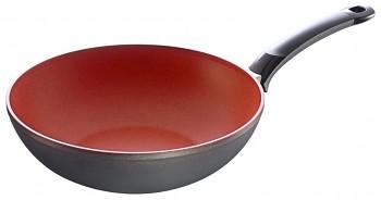 WOK pánev s nepřilnavým povrchem Senso Red 28 cm
