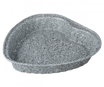 Forma na koláč s mramorovým povrchem srdce