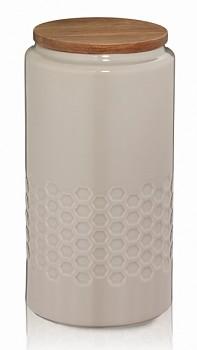 Dóza MELIS keramika 1.3l šedá