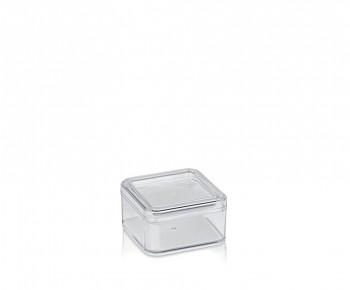 Kosmetická dóza ELINA plast 9x9x5cm