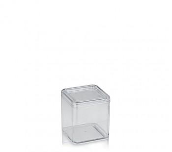 Kosmetická dóza ELINA plast 9x9x10cm