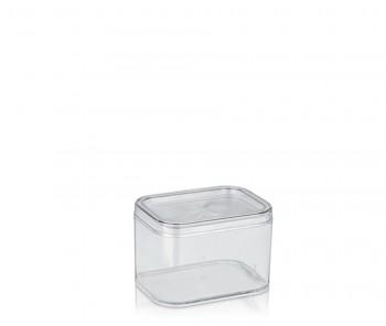 Kosmetická dóza ELINA plast 15x11x10cm