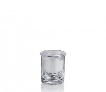 Dóza s víčkem LETICIA akrylové sklo 6,5x7,5cm
