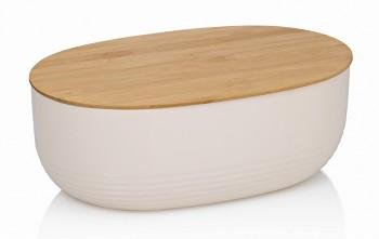 Chlebník NAMUR plast / dřevo béžová