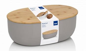 Chlebník NAMUR plast / dřevo šedá