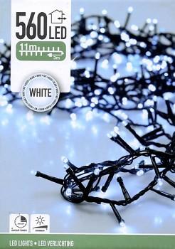 Vánoční světelný řetěz 560LED 11 m bílá