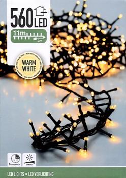 Vánoční světelný řetěz 560LED 11 m teplá bílá