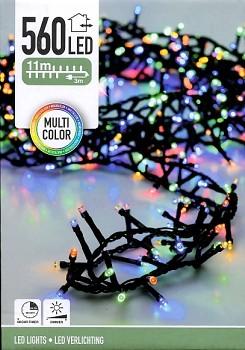 Vánoční světelný řetěz 560LED 11 m barevný