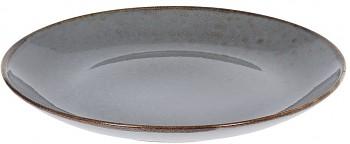 Talíř mělký kamenina 27 cm šedý