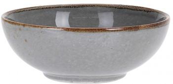Miska kamenina 16,5 cm šedá