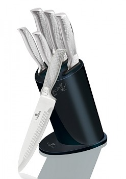 Sada nožů ve stojanu nerez Deep Blue Metallic Line 6 ks Kikoza Collection