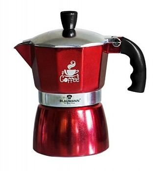 Konvice na espresso 6 šálků Burgundy