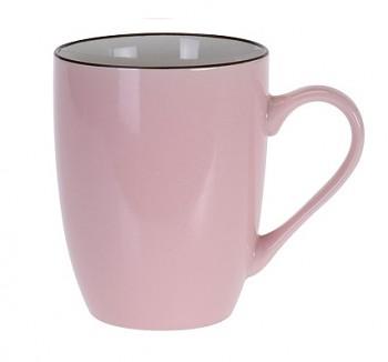 Hrnek keramika 340 ml růžová