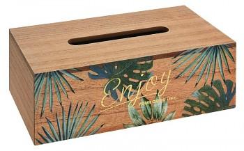 Box na kapesníky dřevo Tropical 25 cm