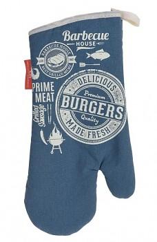 Chňapka rukavice BBQ modrá